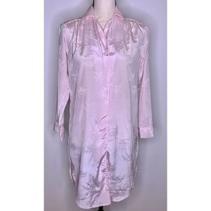 VINTAGE Jayre California Nightgown Size S Pink